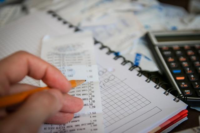 výpočet s účtenkou