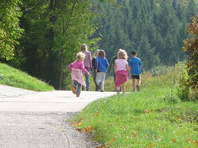 rodinný výlet s dětmi